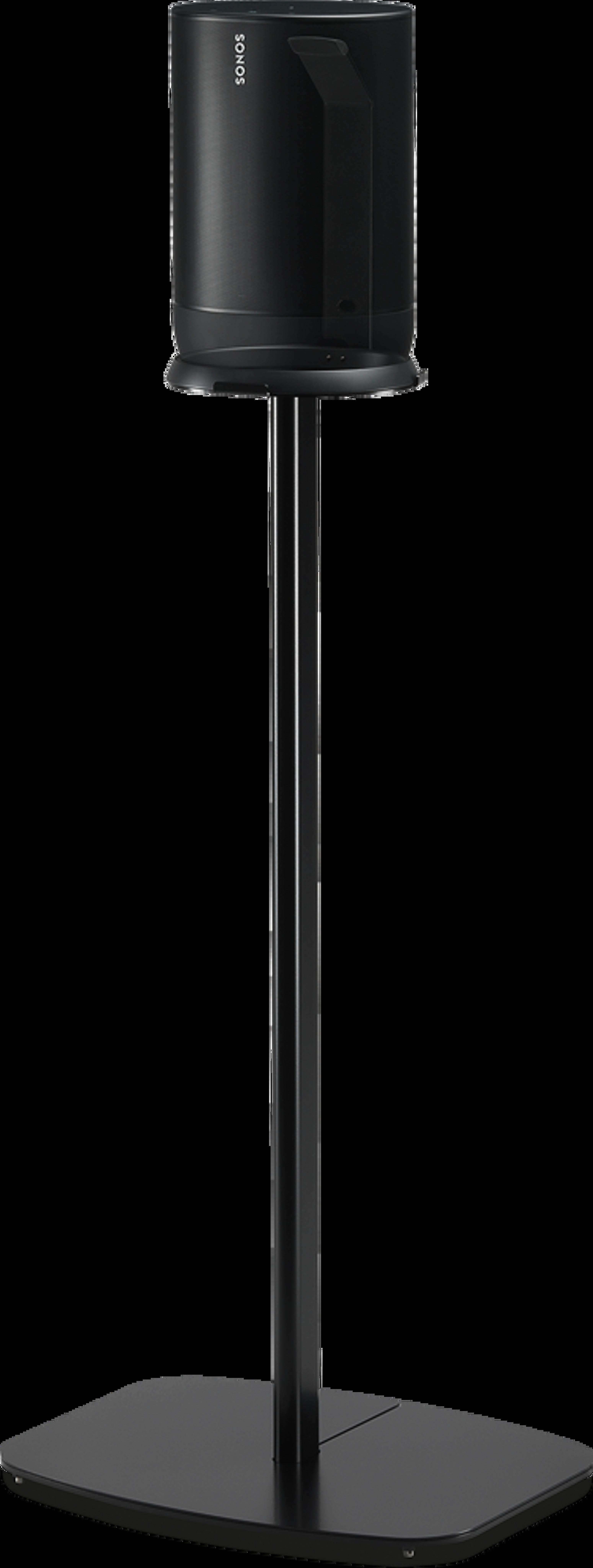 Vista d'angolo del supporto Flexson nero per Move