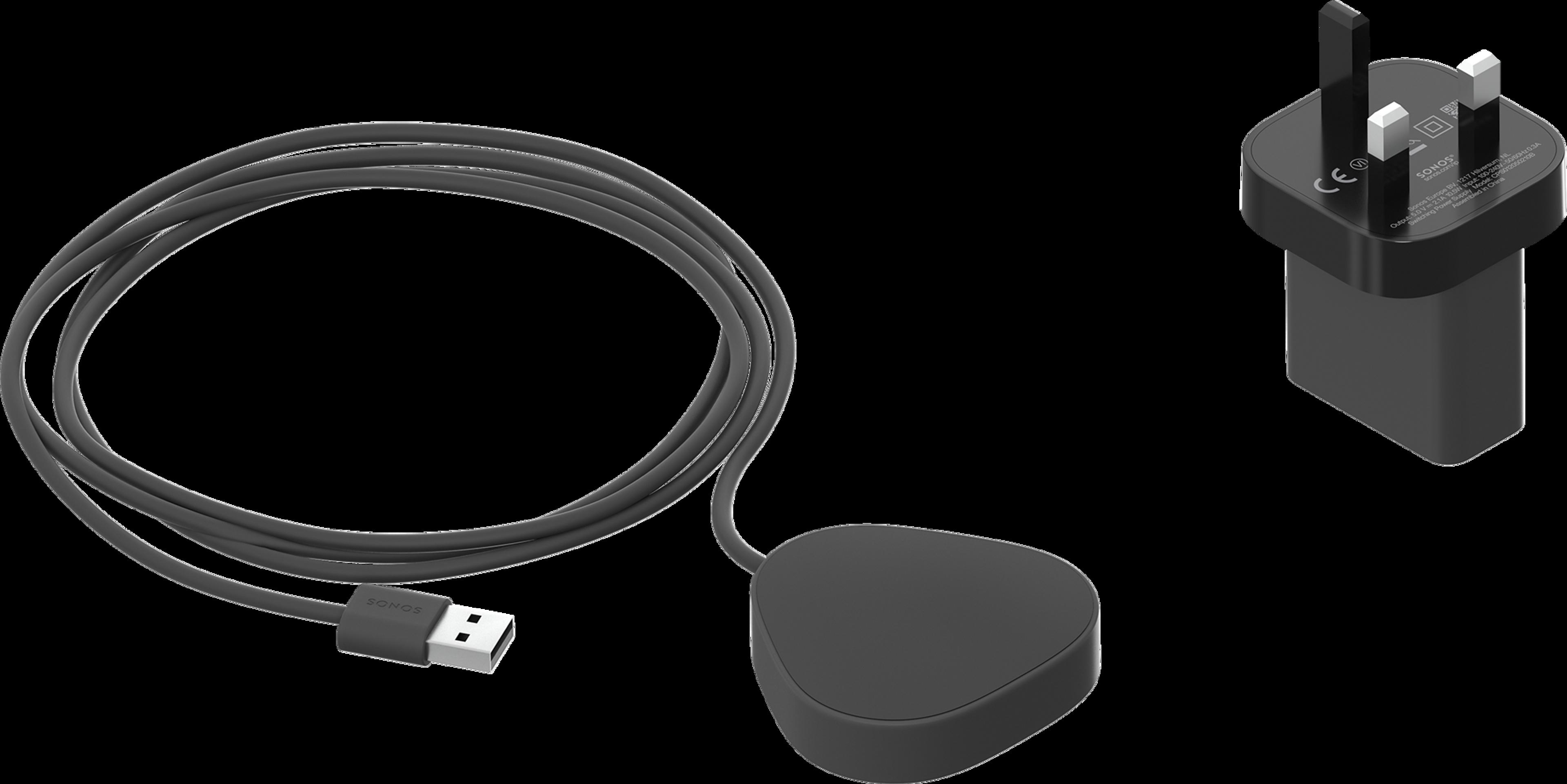 Roam wireless charger shadow black