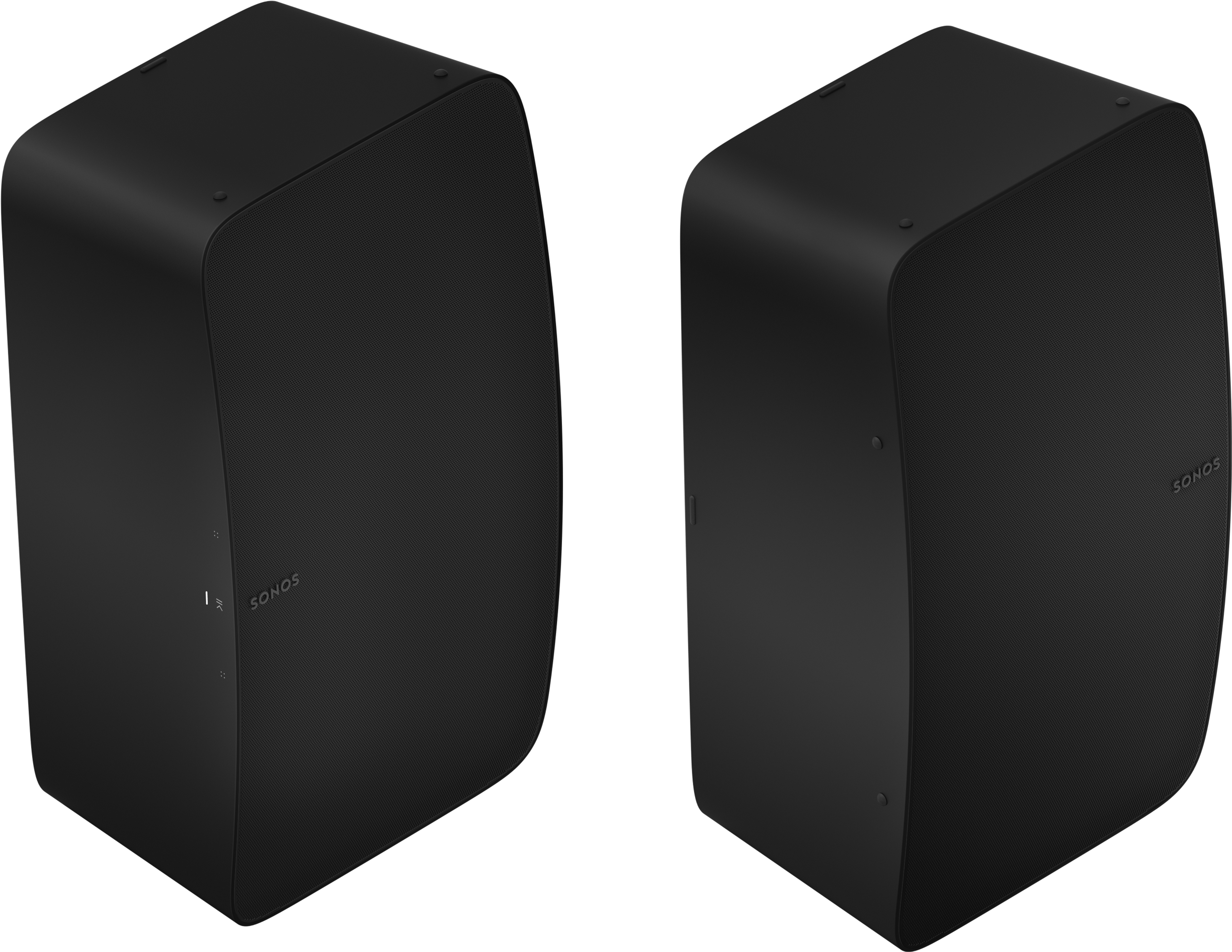 Two Room Set with Five vertical black