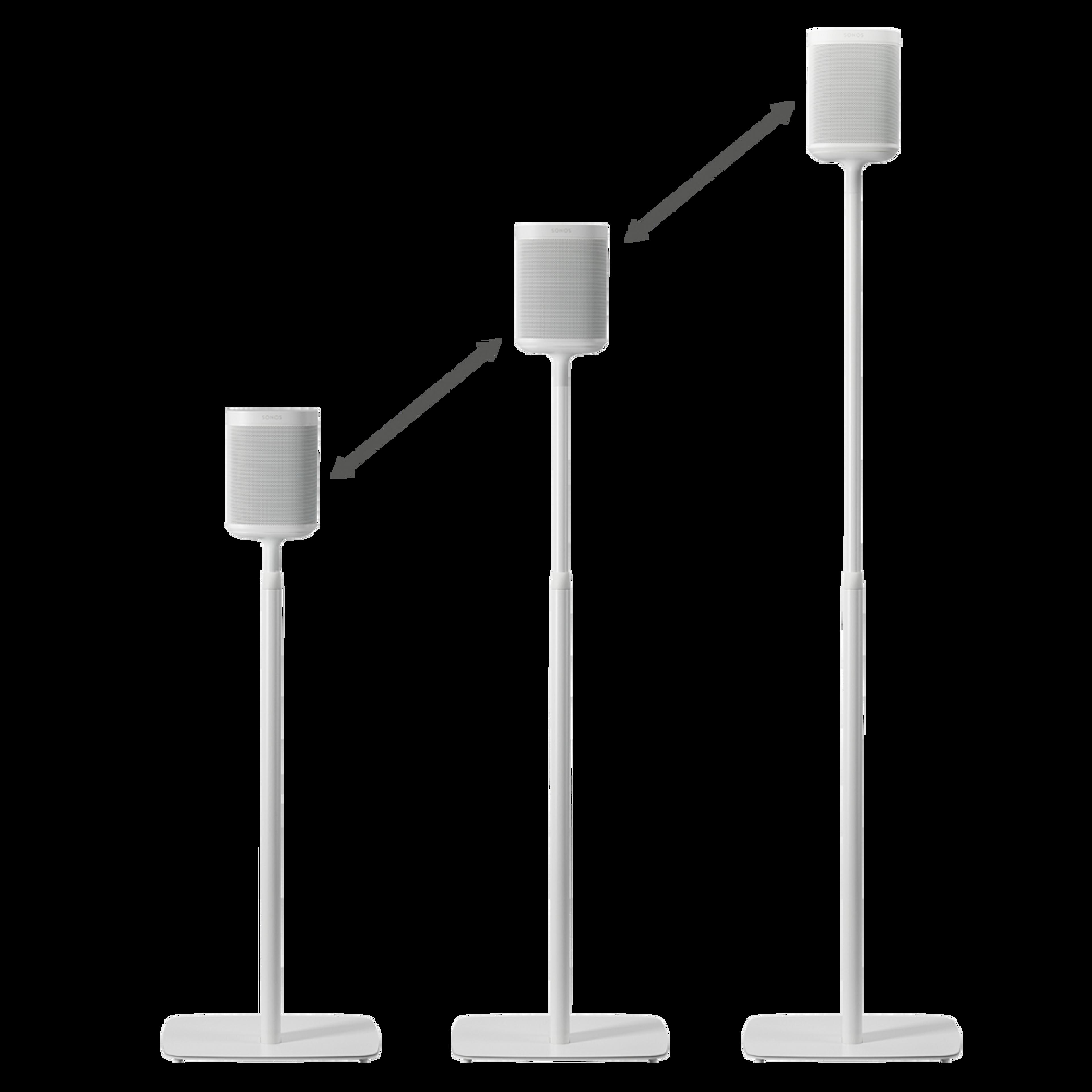 Flexson Adjustable Floor Stand (Pair) sizes white
