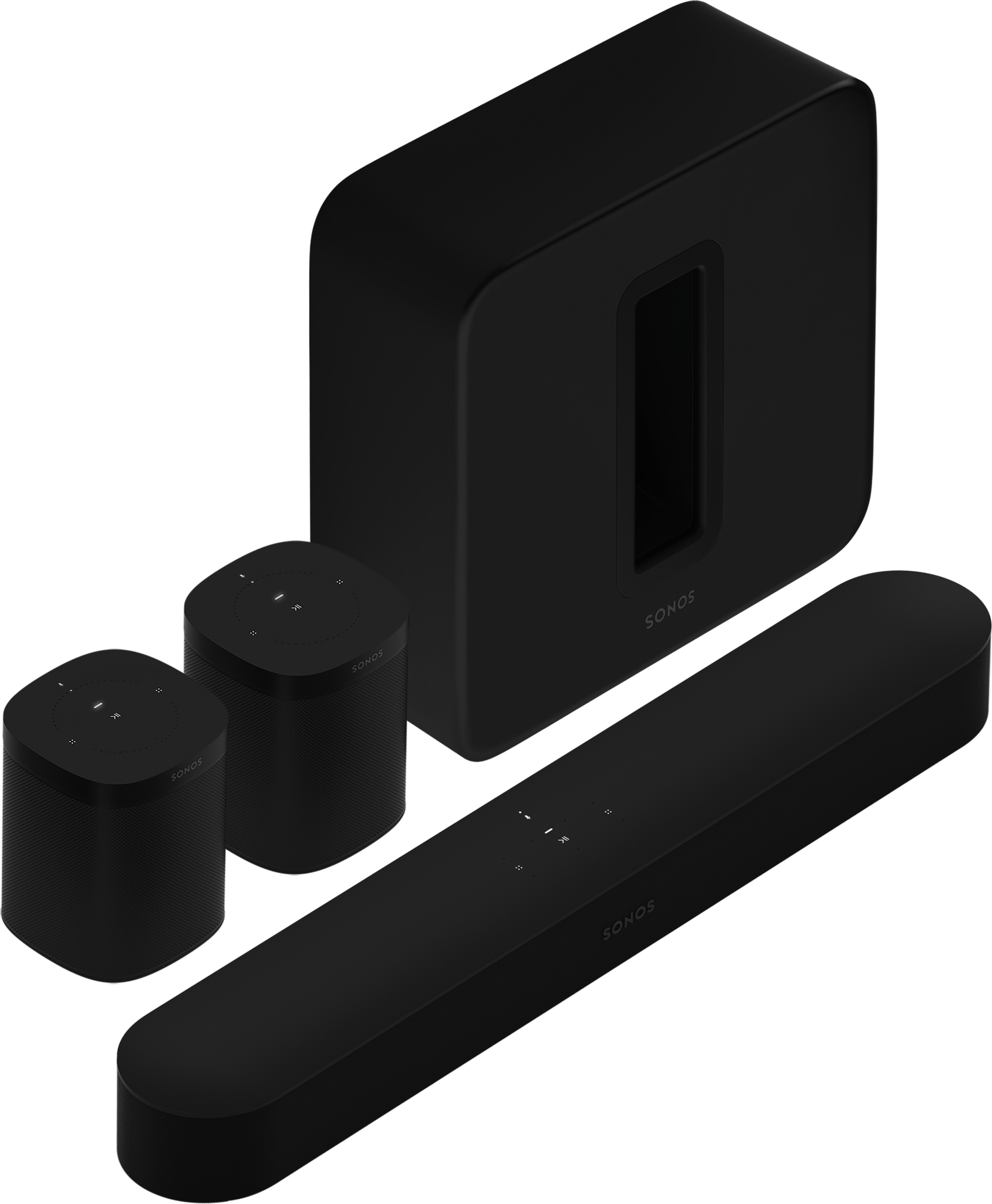Beam with Sub and One pair black