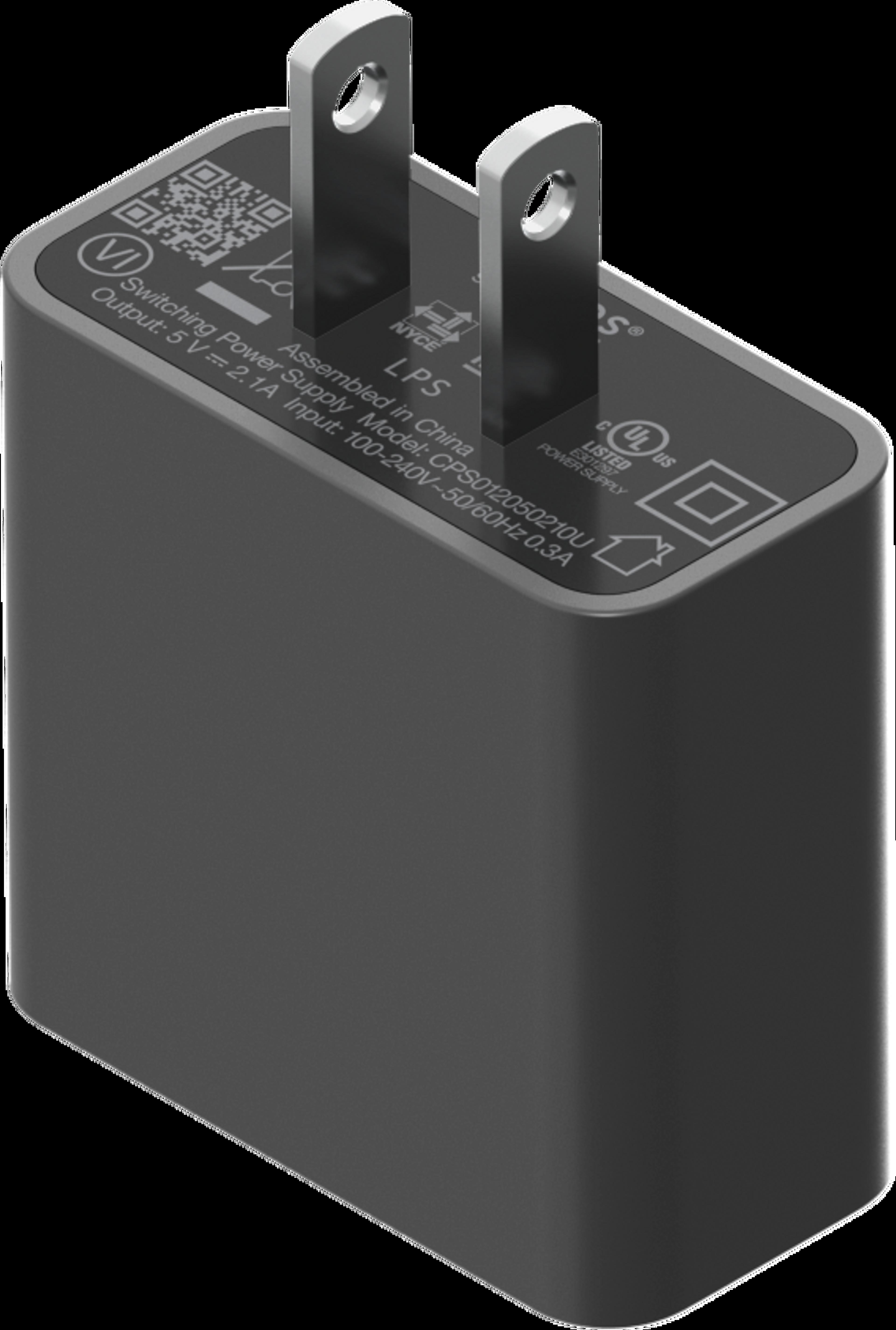 Roam 10W USB power adapter shadow black