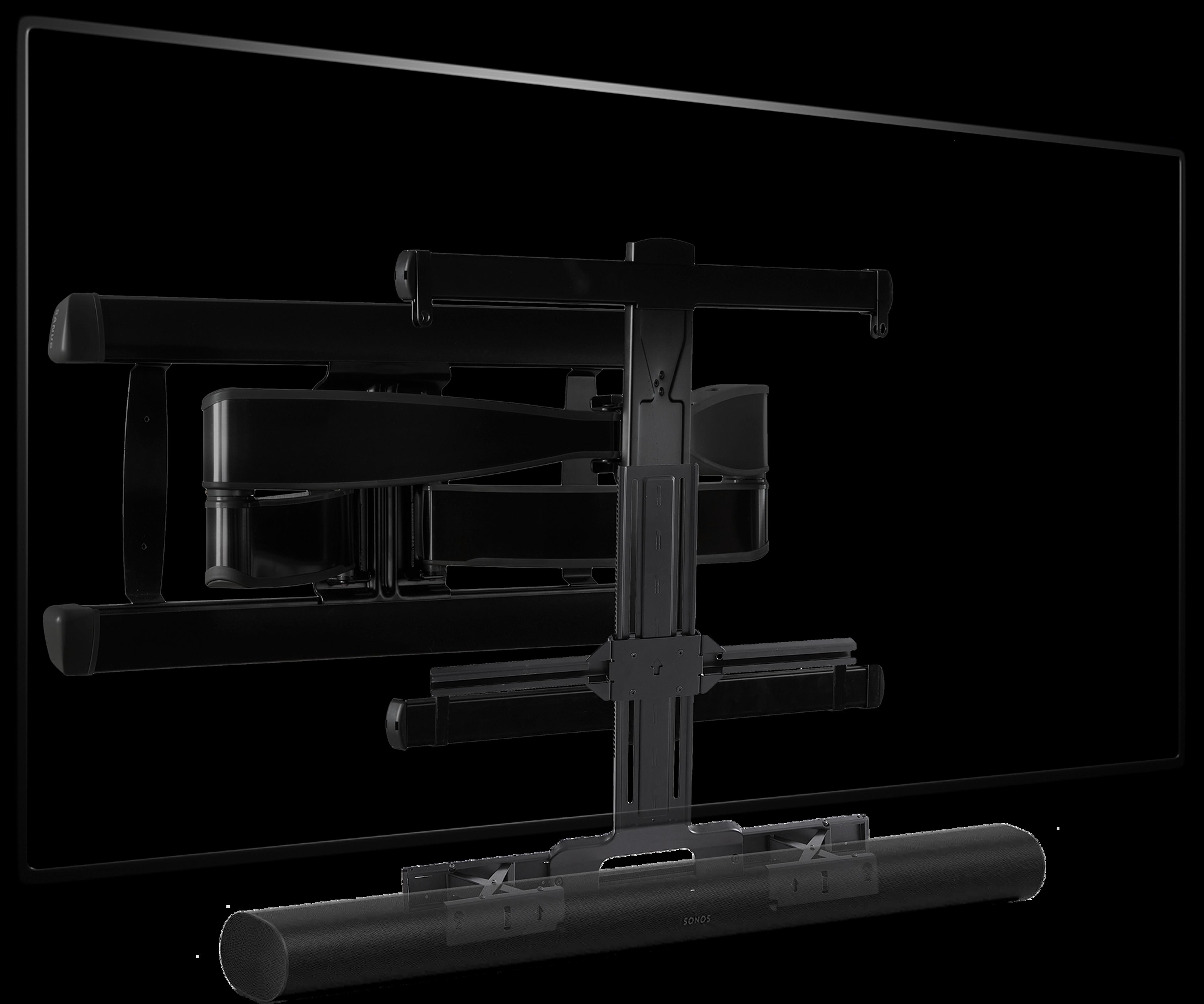 Sanus TV-monteringsbeslag til Arc vinkel sort