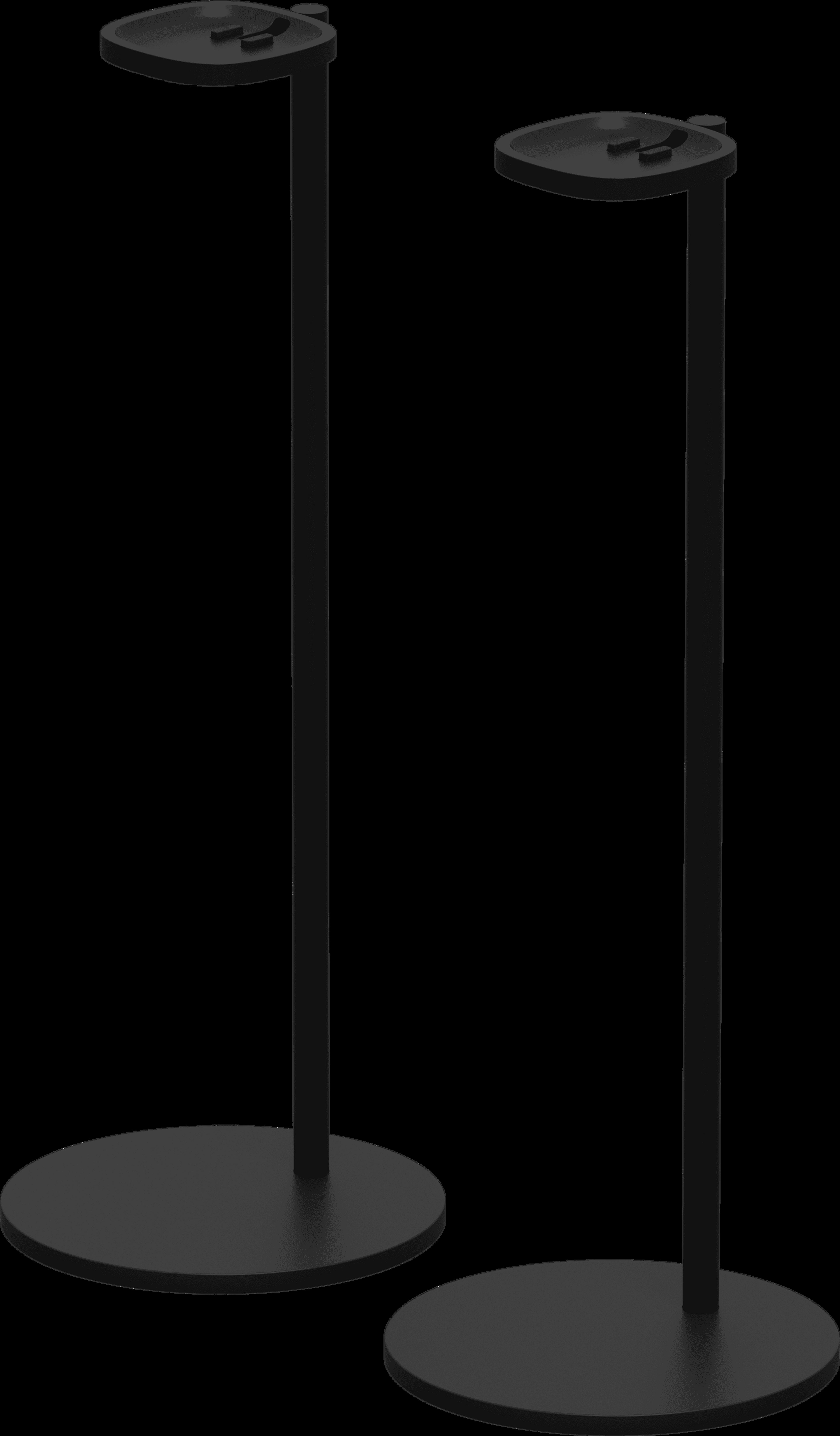 Stand full empty pair black