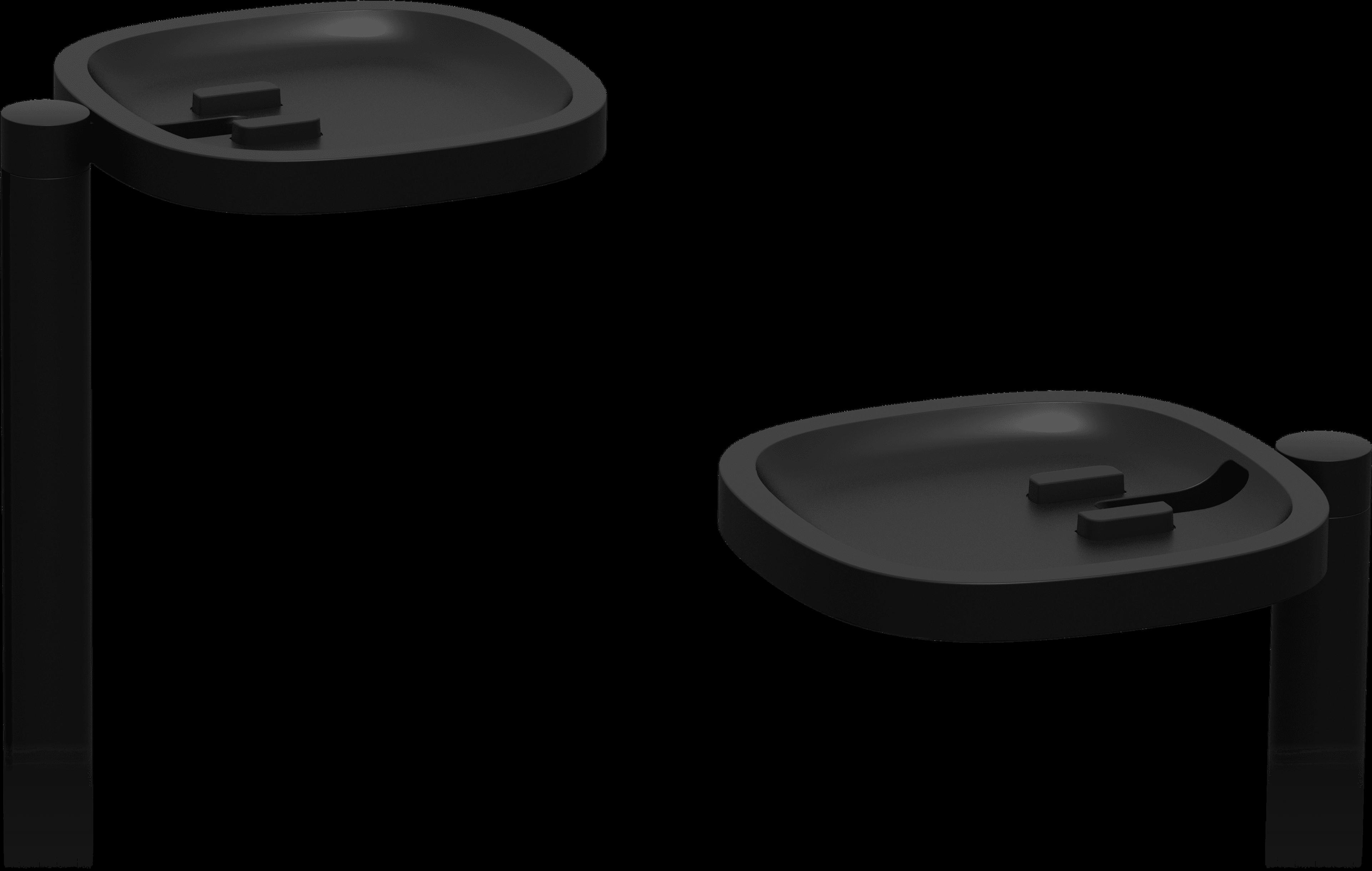 支架细节顶部空置成对黑色