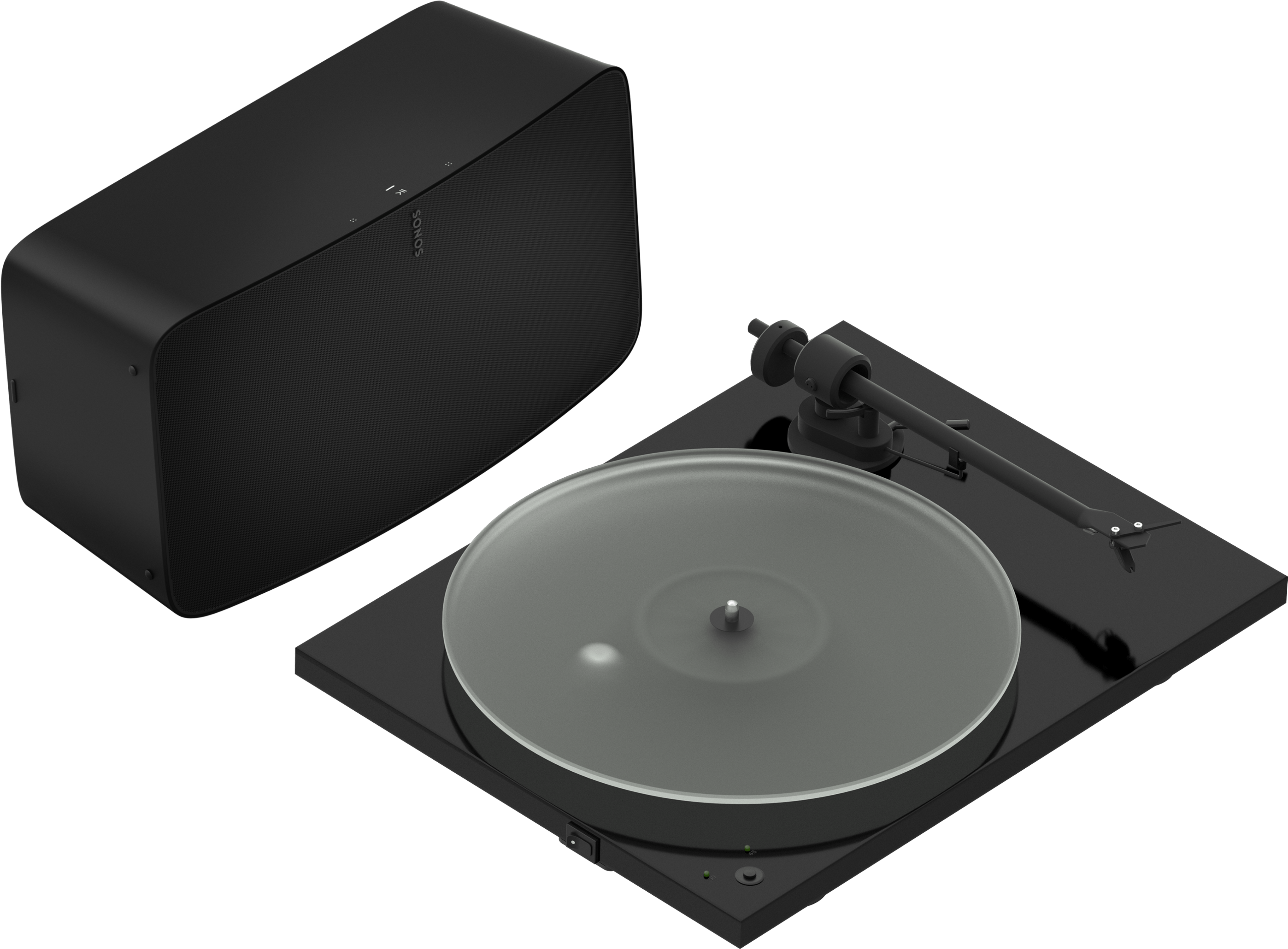 Pro-Ject T1 turntable with Sonos Five black