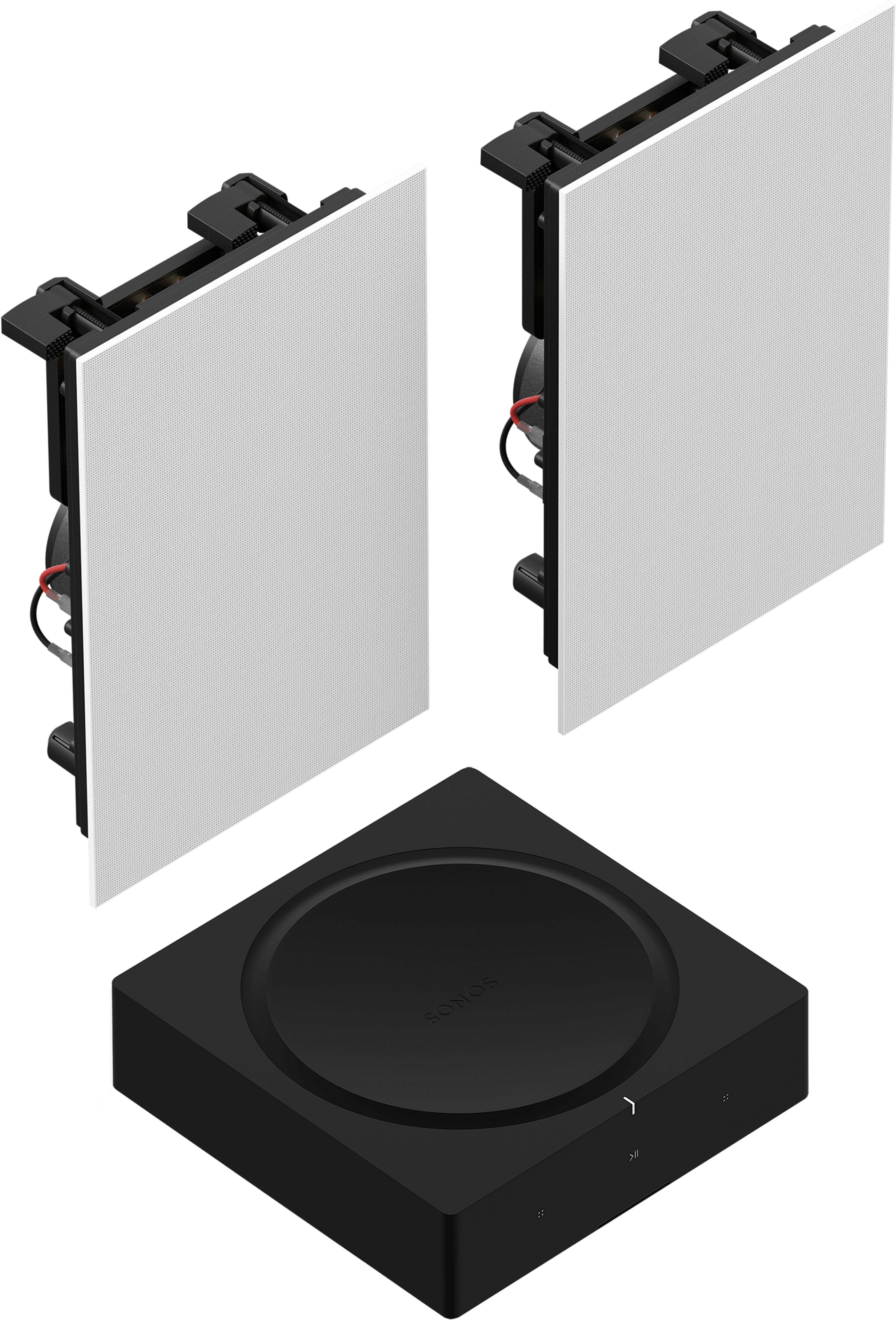 Amp with In-Wall Speakers Set