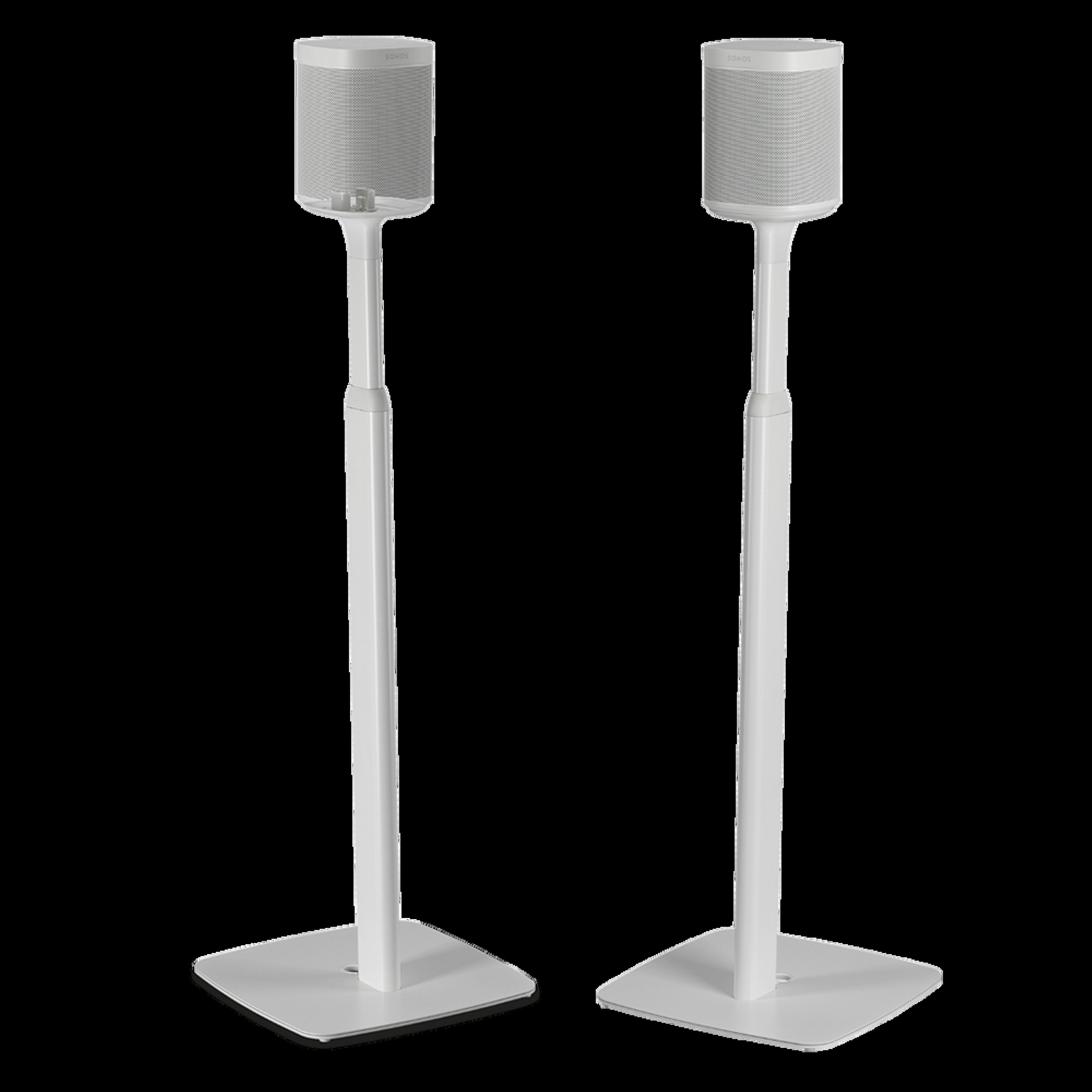 Flexson Adjustable Floor Stand (Pair) white
