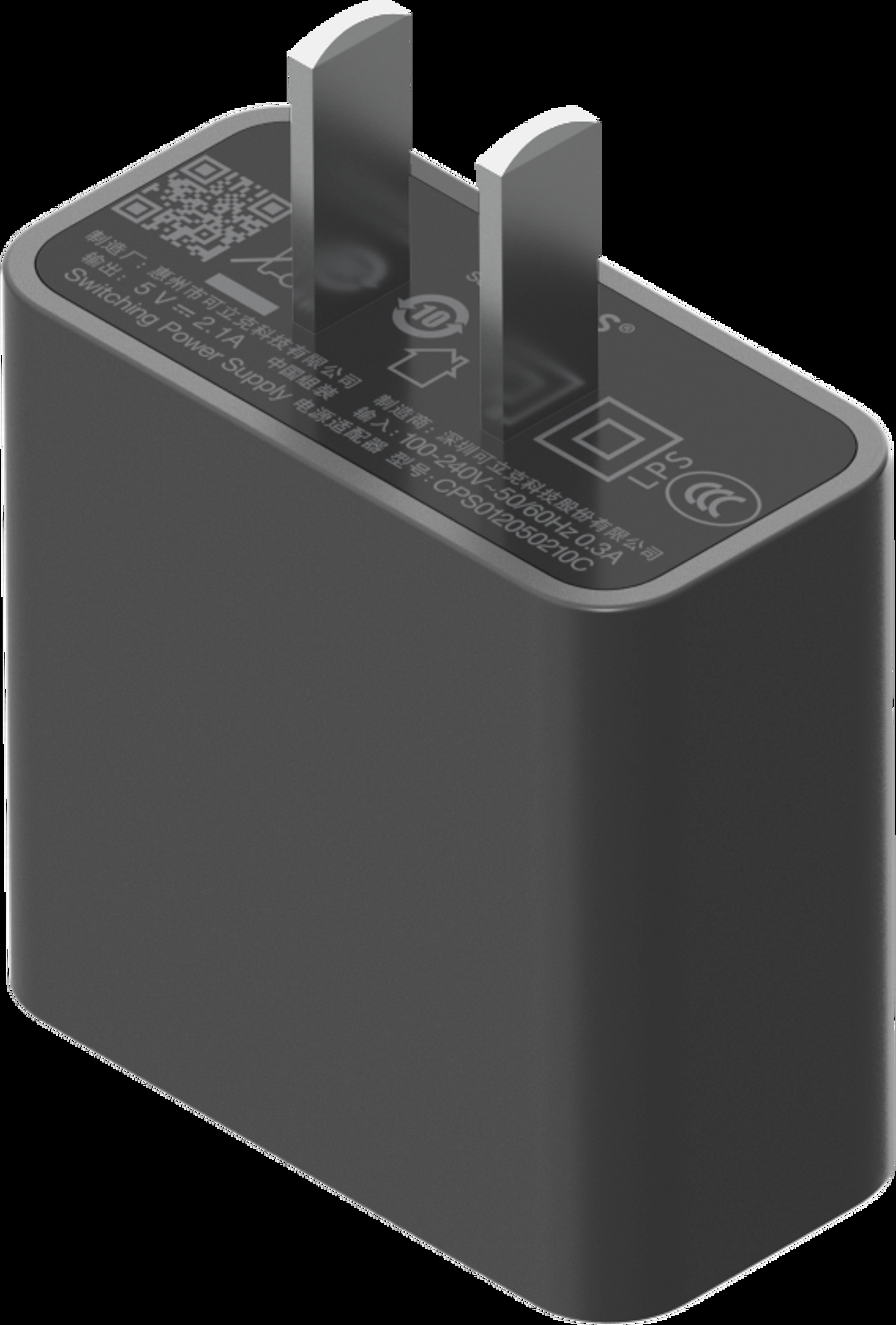 Roam 10W USB电源适配器Shadow Black