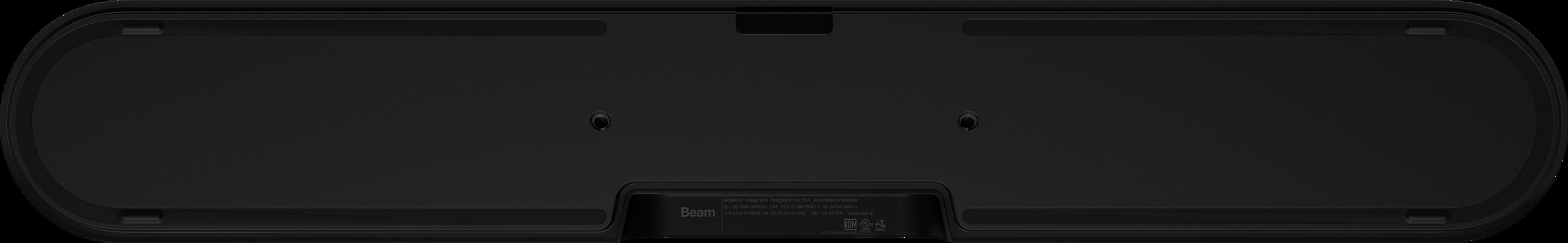 Vista inferior de Beam en negro