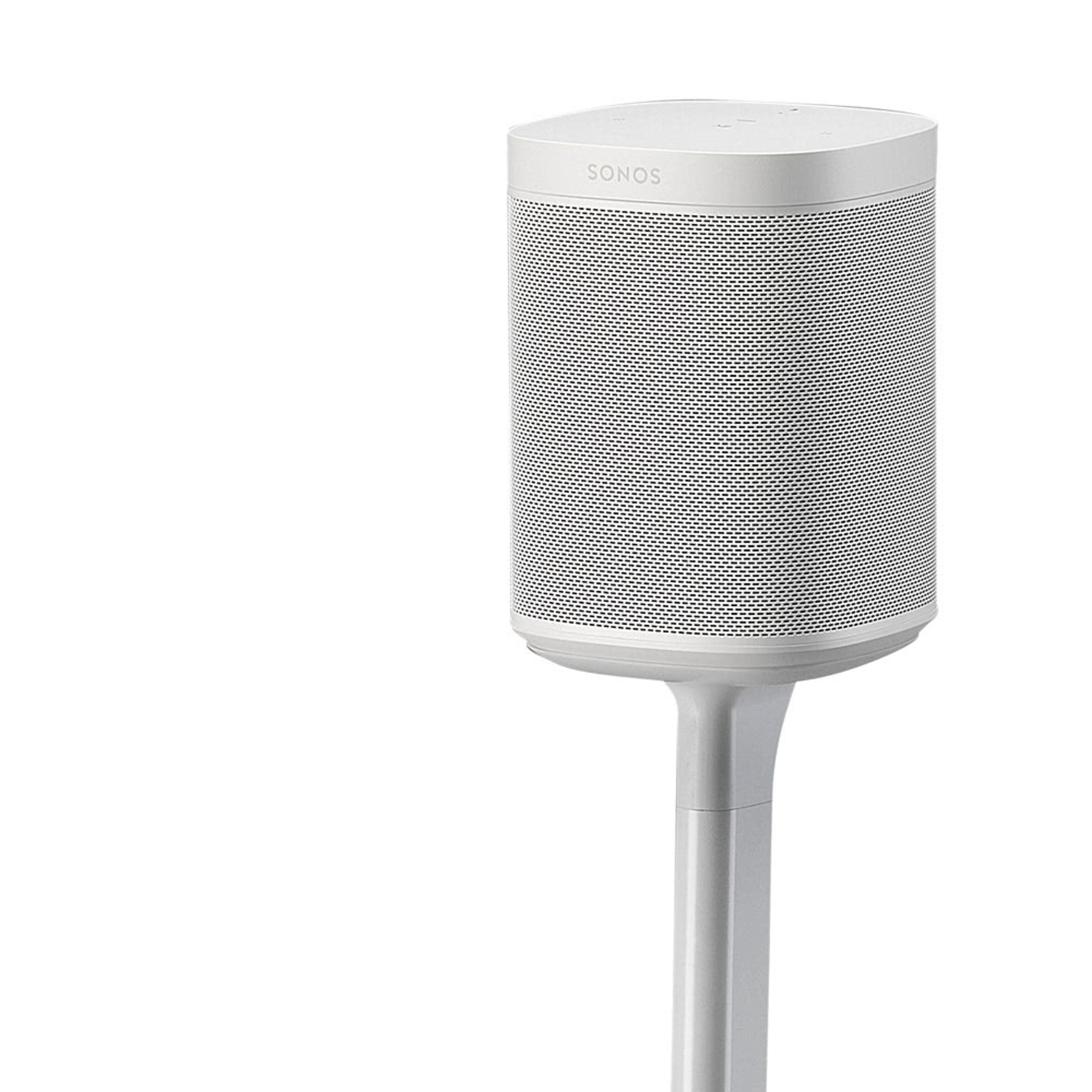 Flexson Adjustable Floor Stand (Pair) top white